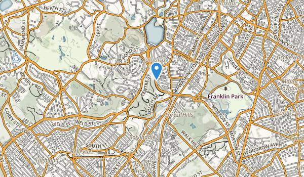 trail locations for Arnold Arboretum