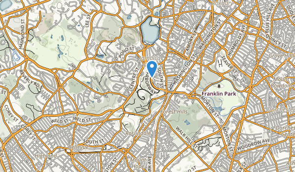 Arnold Arboretum Map