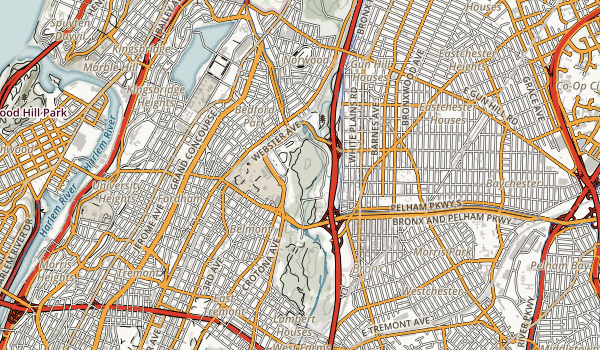 trail locations for Bronx Botnaical Gardens