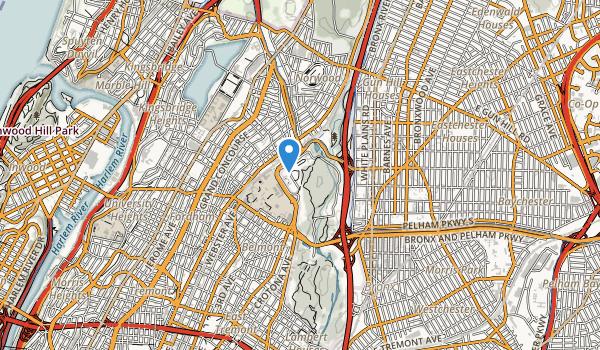 Bronx Botnaical Gardens Map