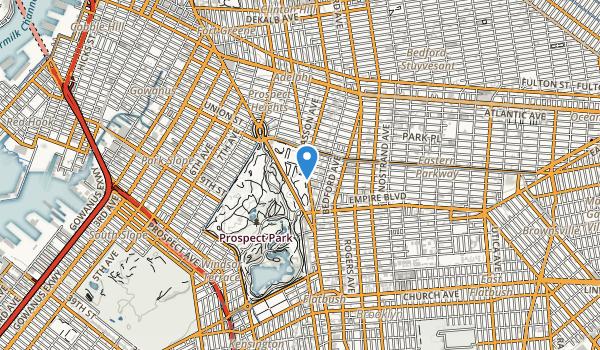 trail locations for Brooklyn Botanic Gardens