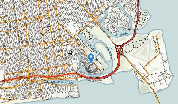 trail locations for Brooklyn Marine Park