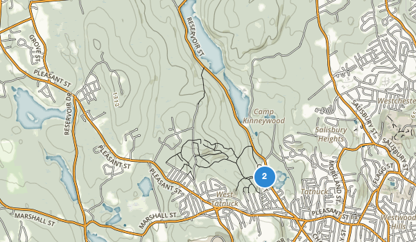trail locations for Cascades Park