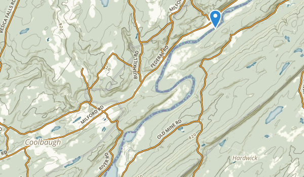 trail locations for Delaware Water Gap Nra