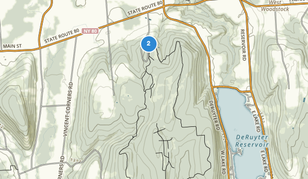 trail locations for Highland Forest Park