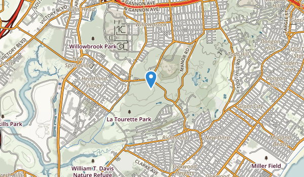 trail locations for Latourette Park