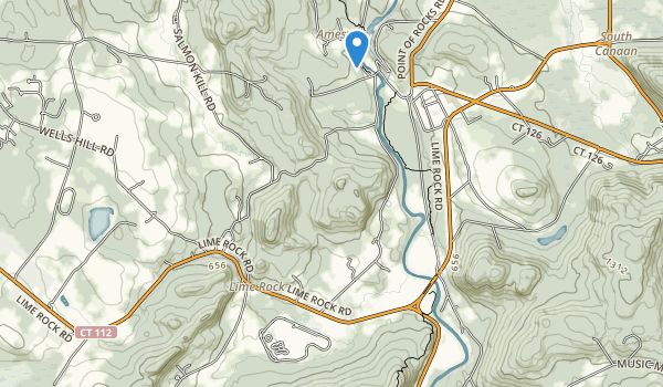 trail locations for Lime Rock Park