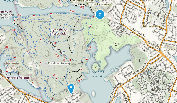 Lynn Woods Reservation Map
