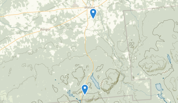 trail locations for Malone Mem Recreation Park
