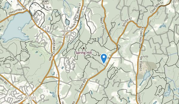 Nashoba Brook Conserv Area Map