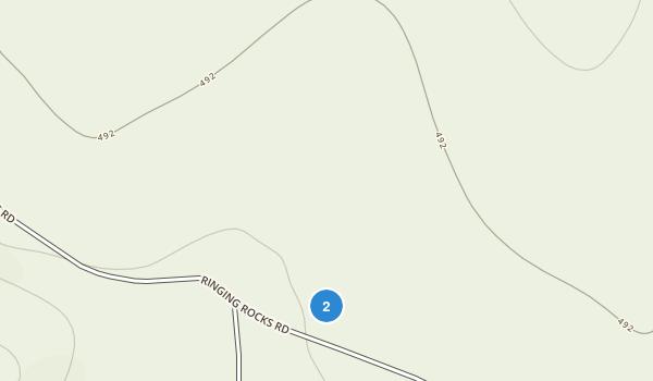Ringing Rocks County Park Map