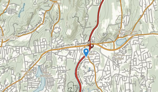 trail locations for Shrub Oak Memorial Park