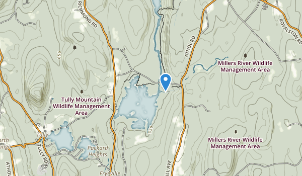 trail locations for Tully Lake Recreation Area
