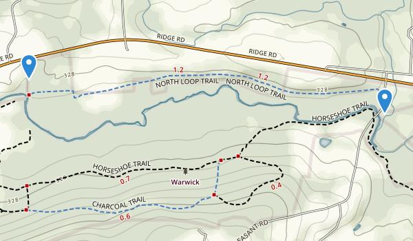 Warwick County Park Map