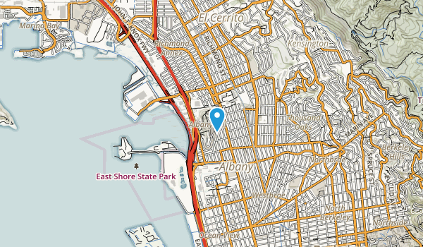 Albany Hill Park Map
