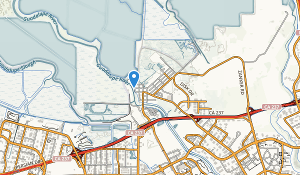 trail locations for Alviso Park