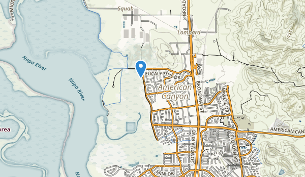 trail locations for American Canyon Comm Park