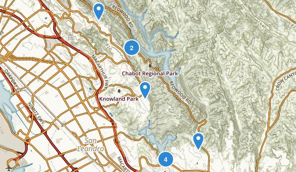 Anthony Chabot Regional Park Map