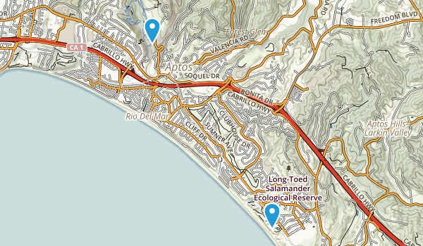 Aptos Village County Park Map