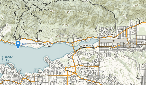 trail locations for Big Bear City Park