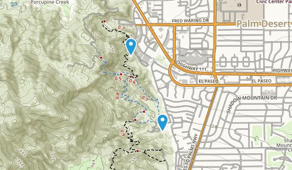 Cahuilla Hills Park Map