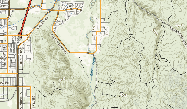 trail locations for Carson River Park