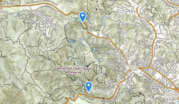 trail locations for Cascade Canyon Preserve