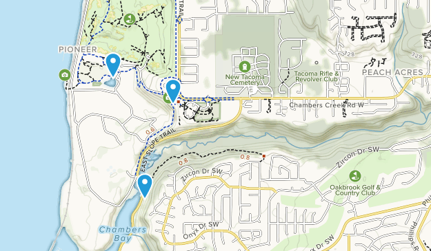 Chambers Creek Park Map