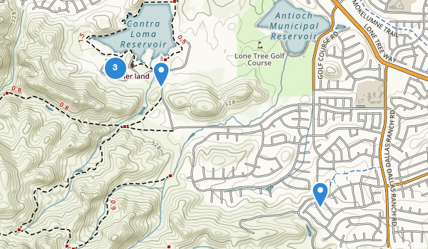 trail locations for Contra Loma Regional Park