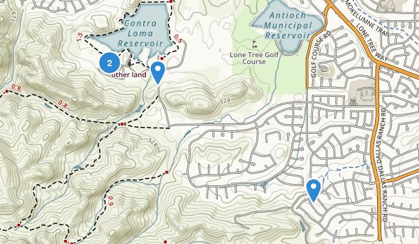 Contra Loma Regional Park Map