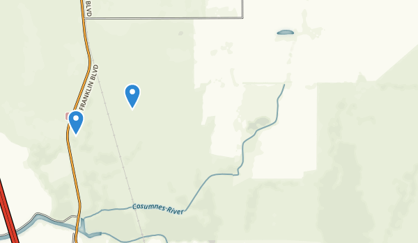trail locations for Cosumnes River Preserve