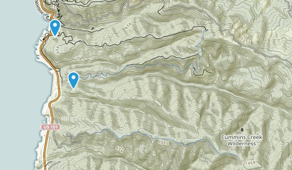 Cummings Creek Wilderness Map