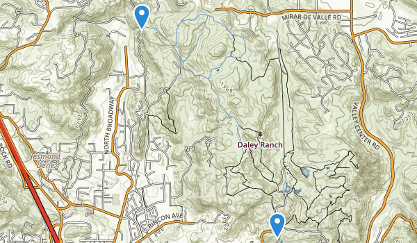 trail locations for Daley Ranch