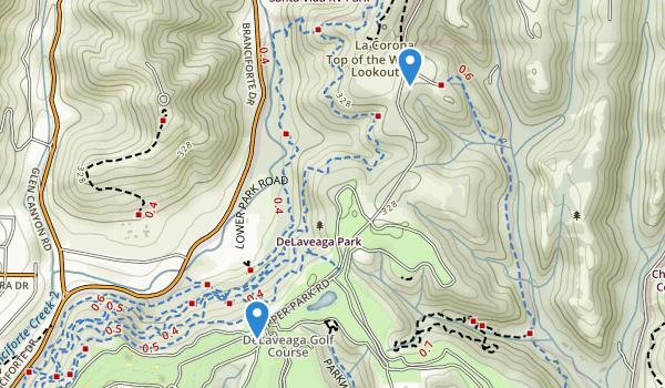 trail locations for De Laveaga Park