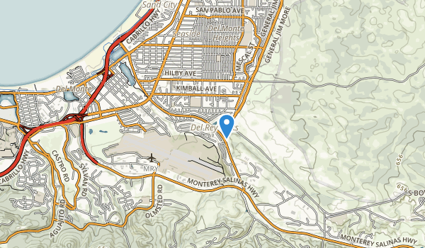 trail locations for Del Rey Park