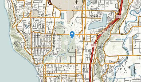 trail locations for Des Moines Creek Park