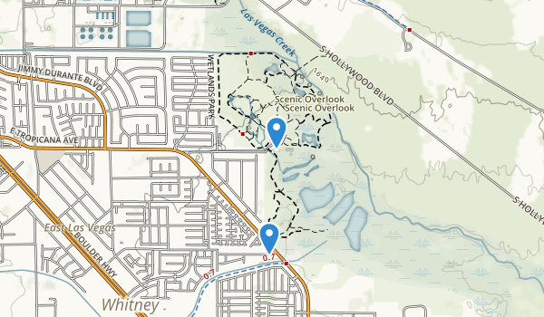 trail locations for Desert Wetlands Park