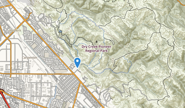trail locations for Dry Creek Pioneer Reg Park