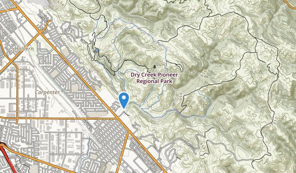 Dry Creek Pioneer Reg Park Map