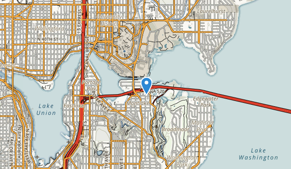 trail locations for East Montlake Park