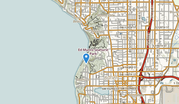 trail locations for Ed Munro Seahurst Park