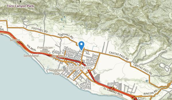 trail locations for El Carro Park