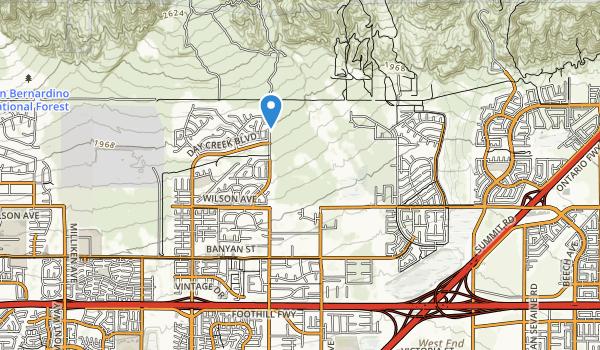 trail locations for Etiwanda Creek Park