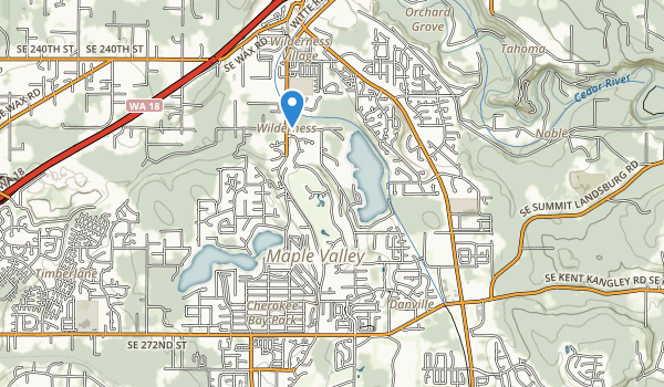 trail locations for Fernwood Park
