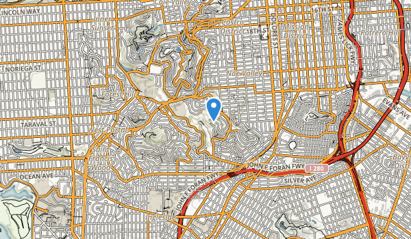trail locations for Glen Canyon Park