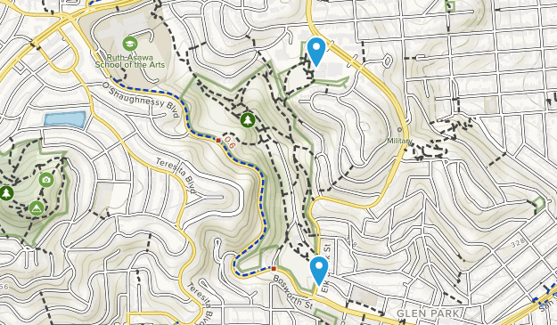 Glen Canyon Park Map