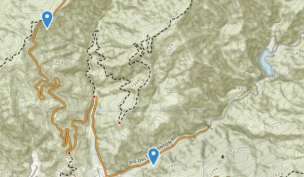 Glendora Wilderness Park Map
