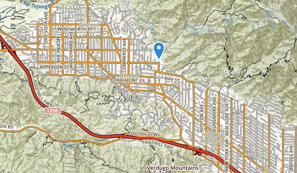 trail locations for Haines Canyon Park