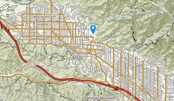 Haines Canyon Park Map