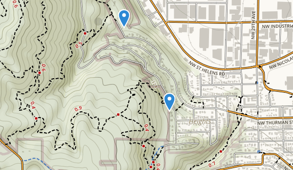 trail locations for Holman Park